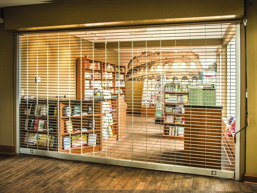 commercial grilles for a book shop