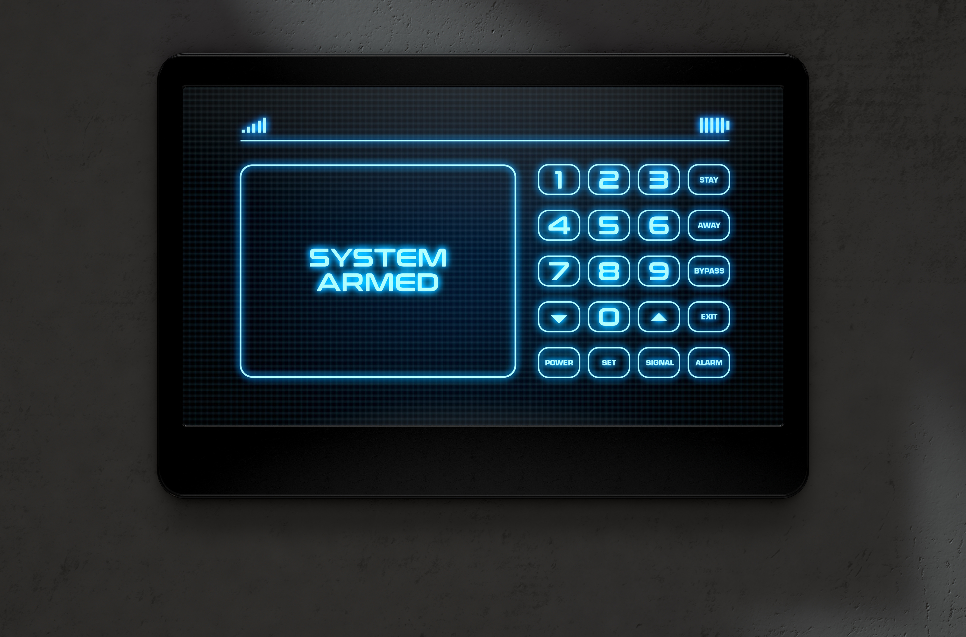 Commercial overhead door safety and access digital controls keypad