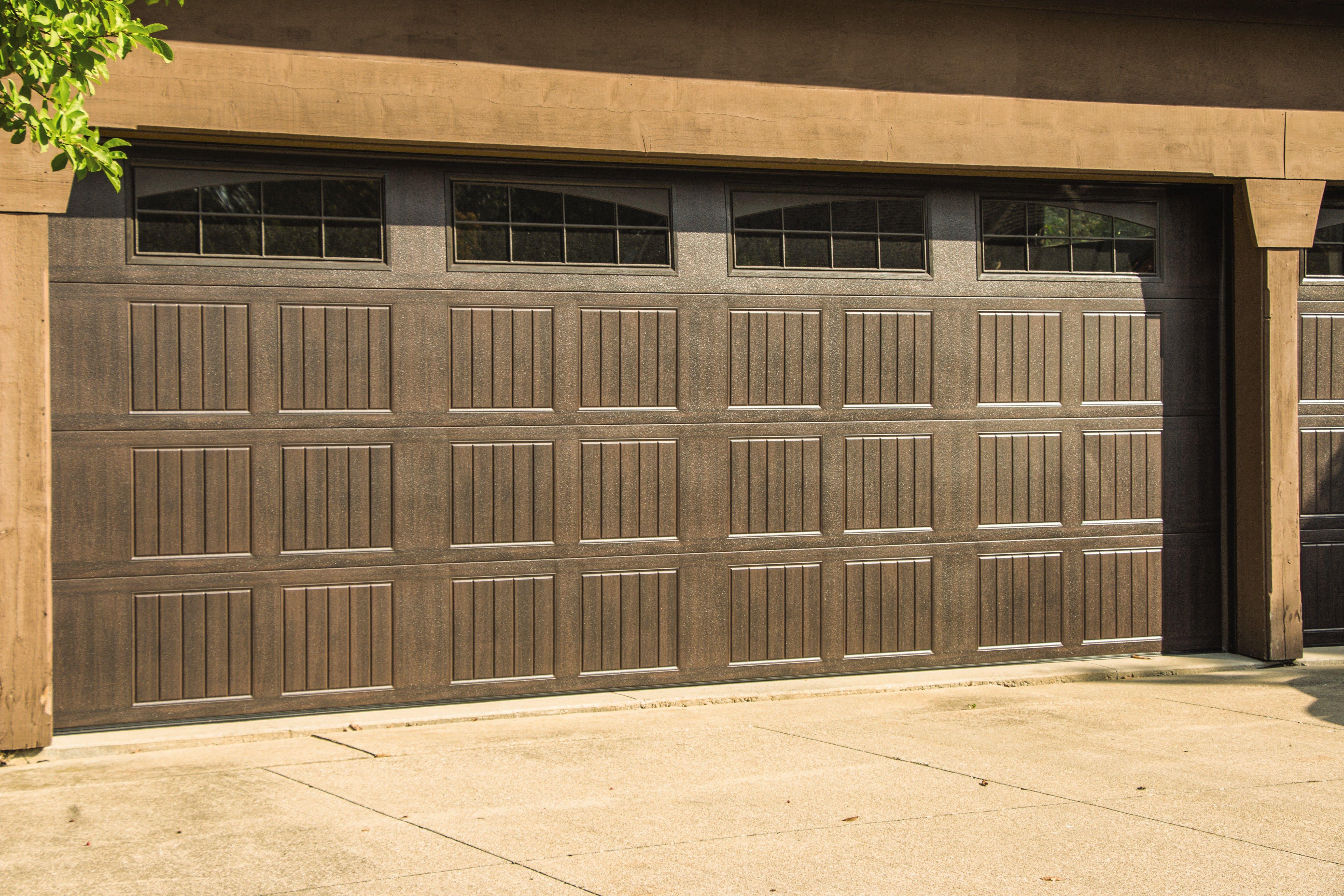 wood double garage doors