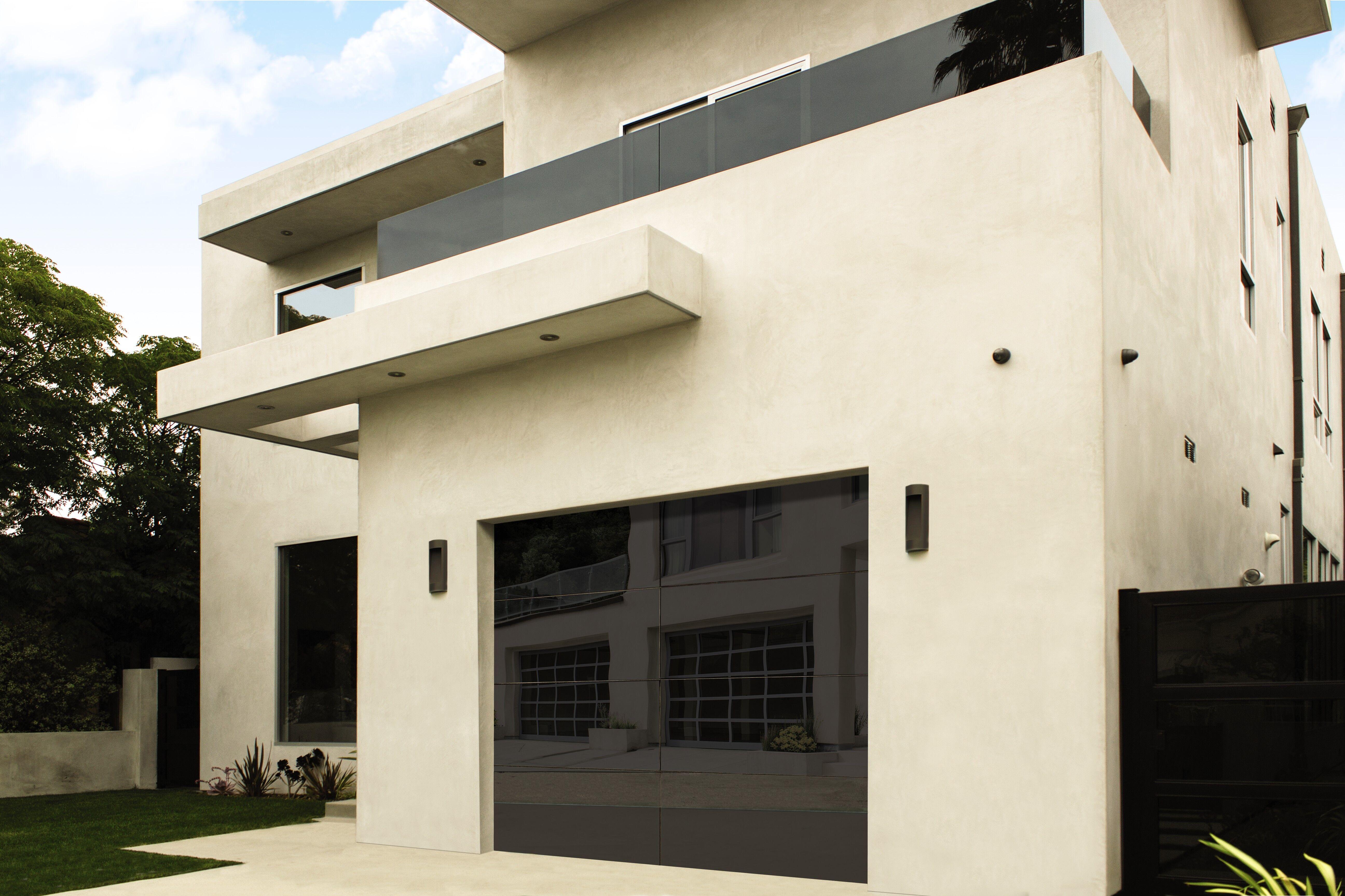 wayne dalton RD-8450 luminous opaque black garage door