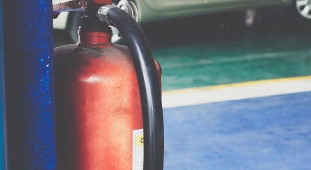 Fire Extinguisher In Creative Door Garage
