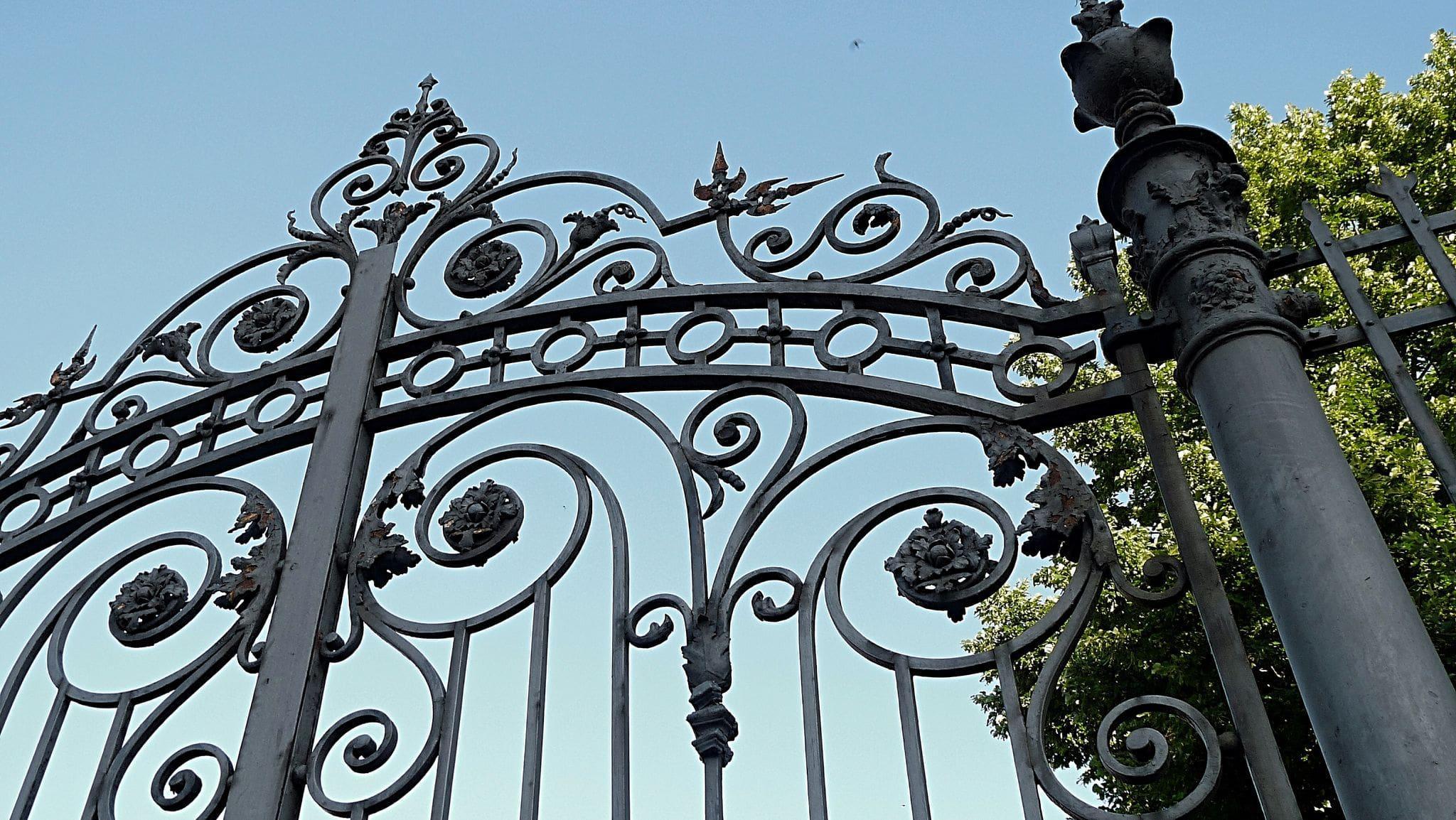 classic ornamental iron gate