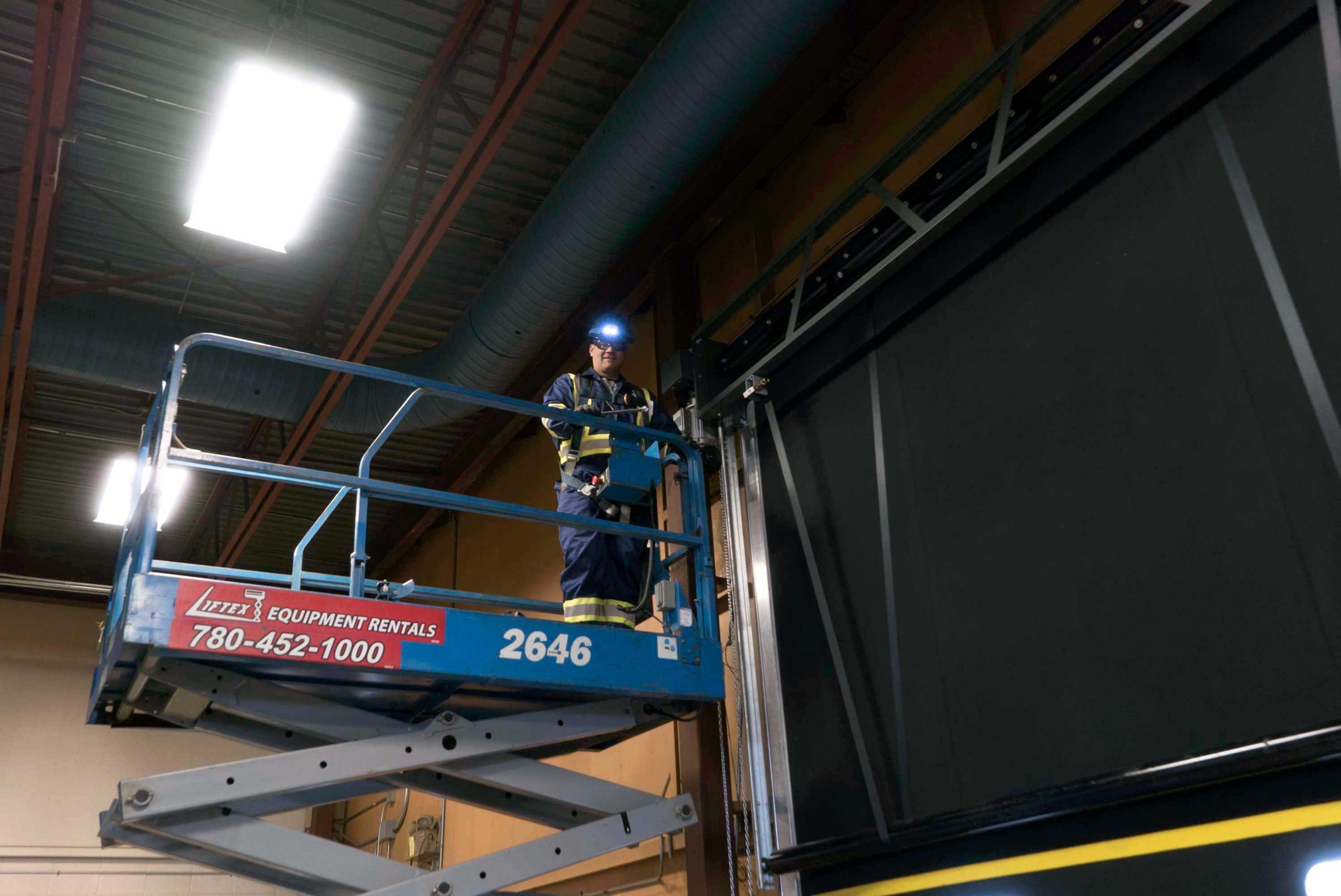 commercial door service technician from creative door