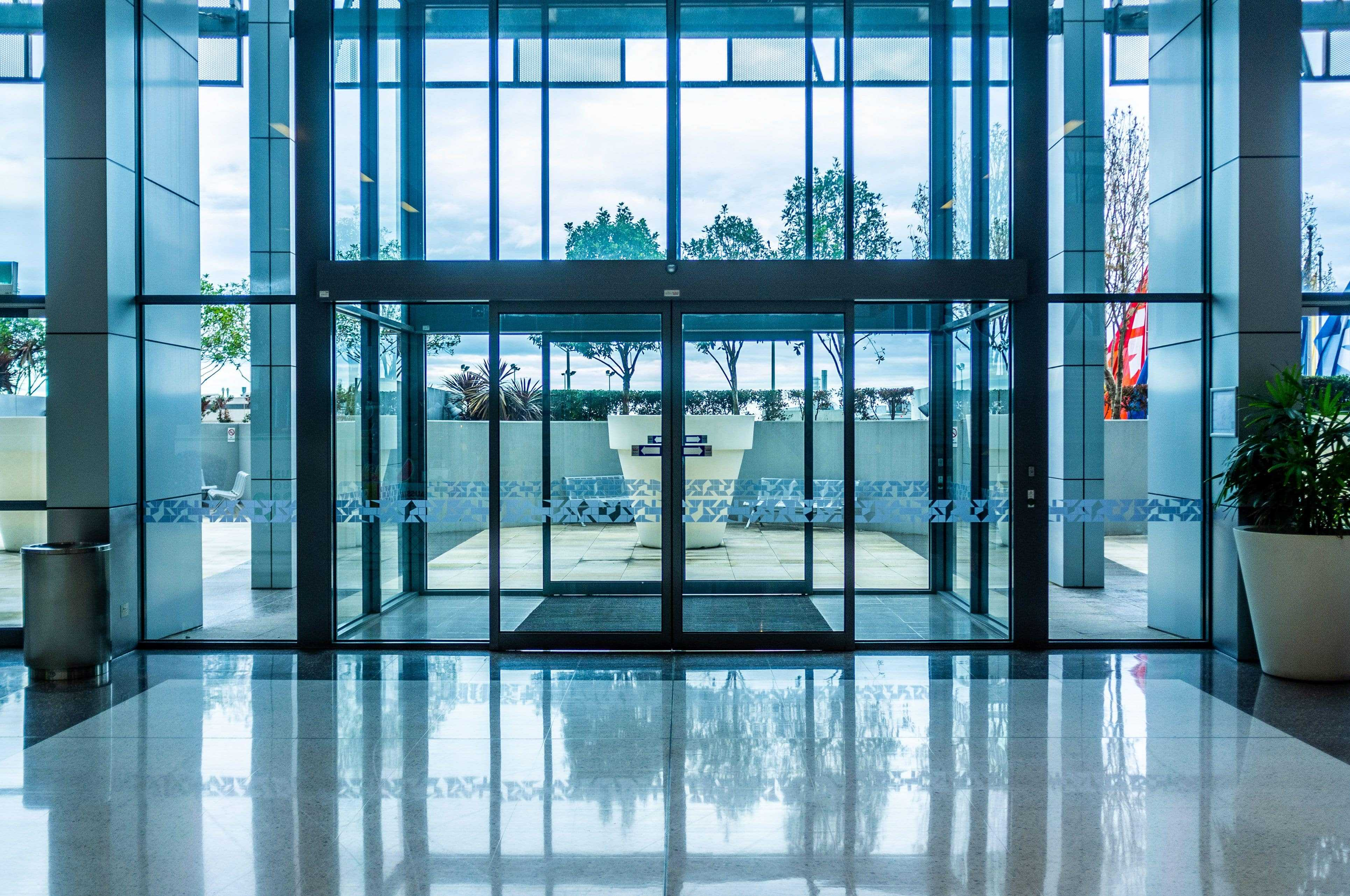 sliding glass automatic pedestrian doors