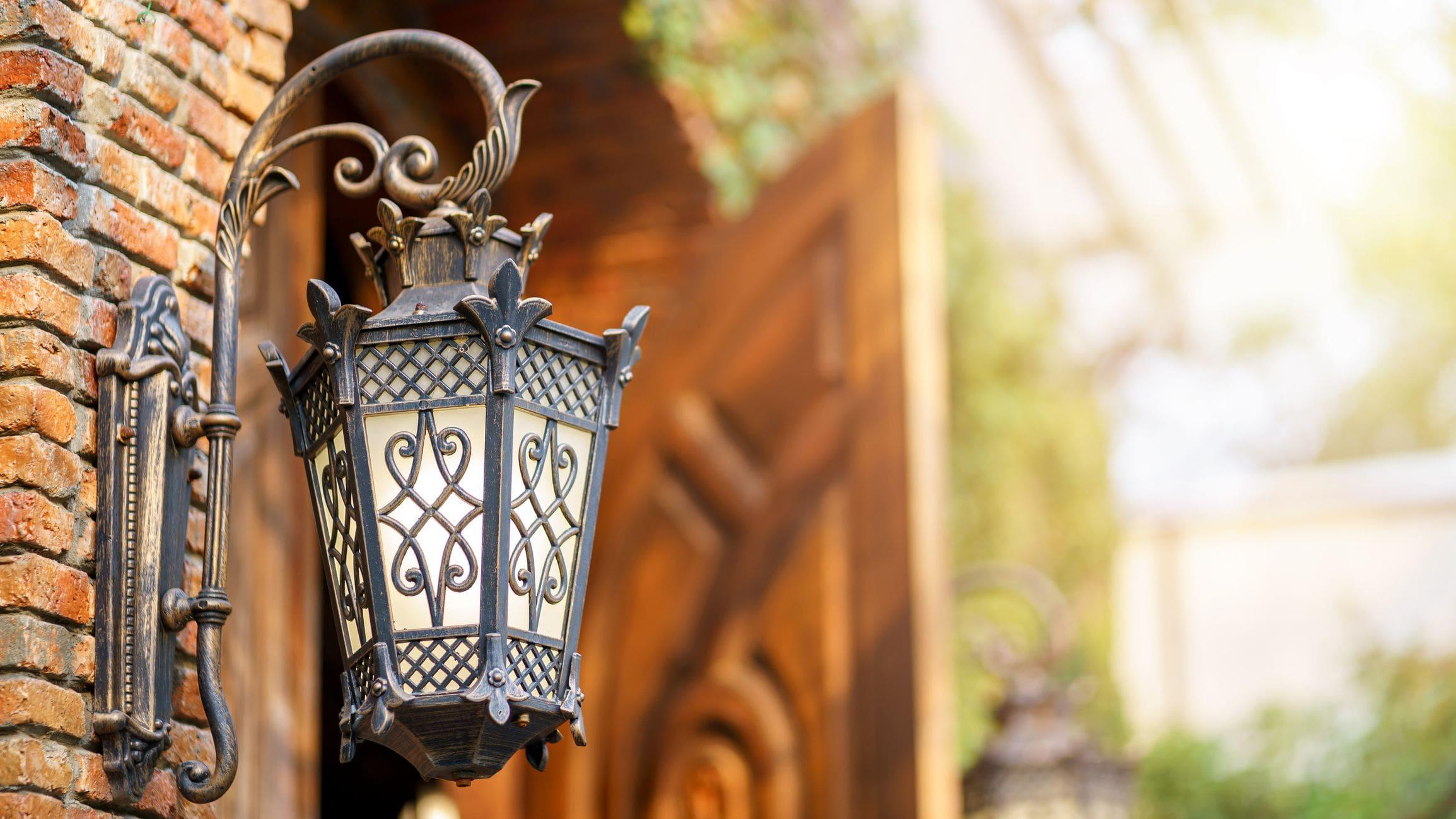 victorian rustic hanging wall lamp