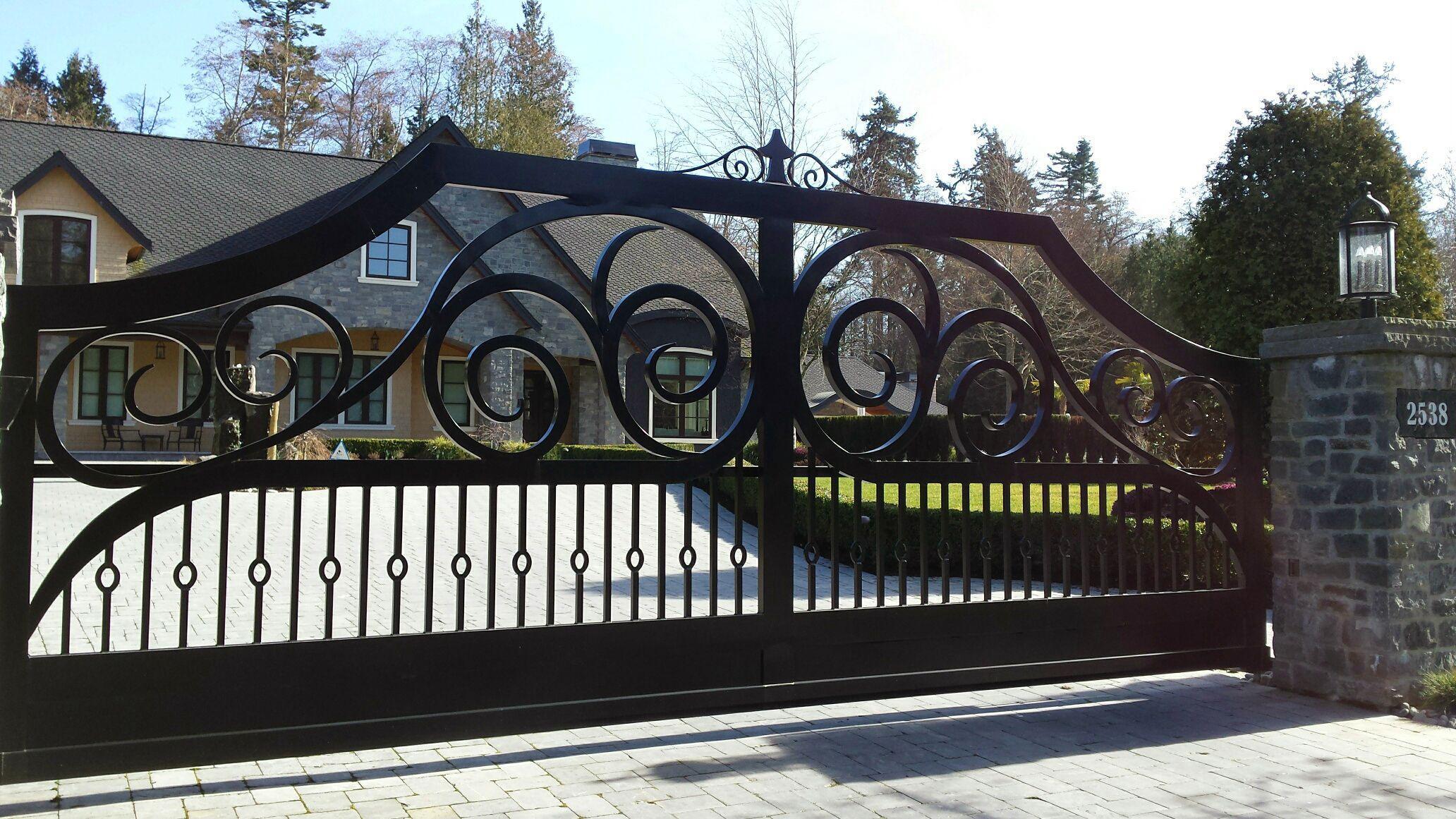 secure home driveway gate