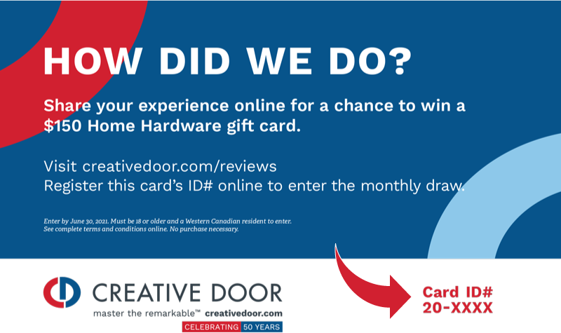 Creative Door Home Hardware gift card