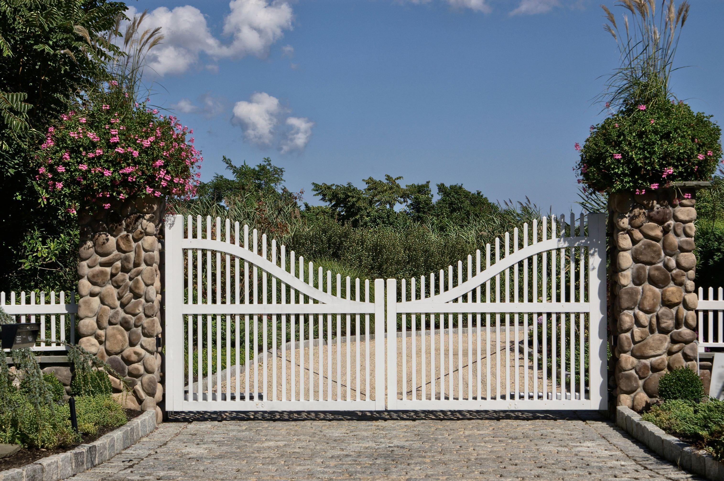 beautiful custom swing gate