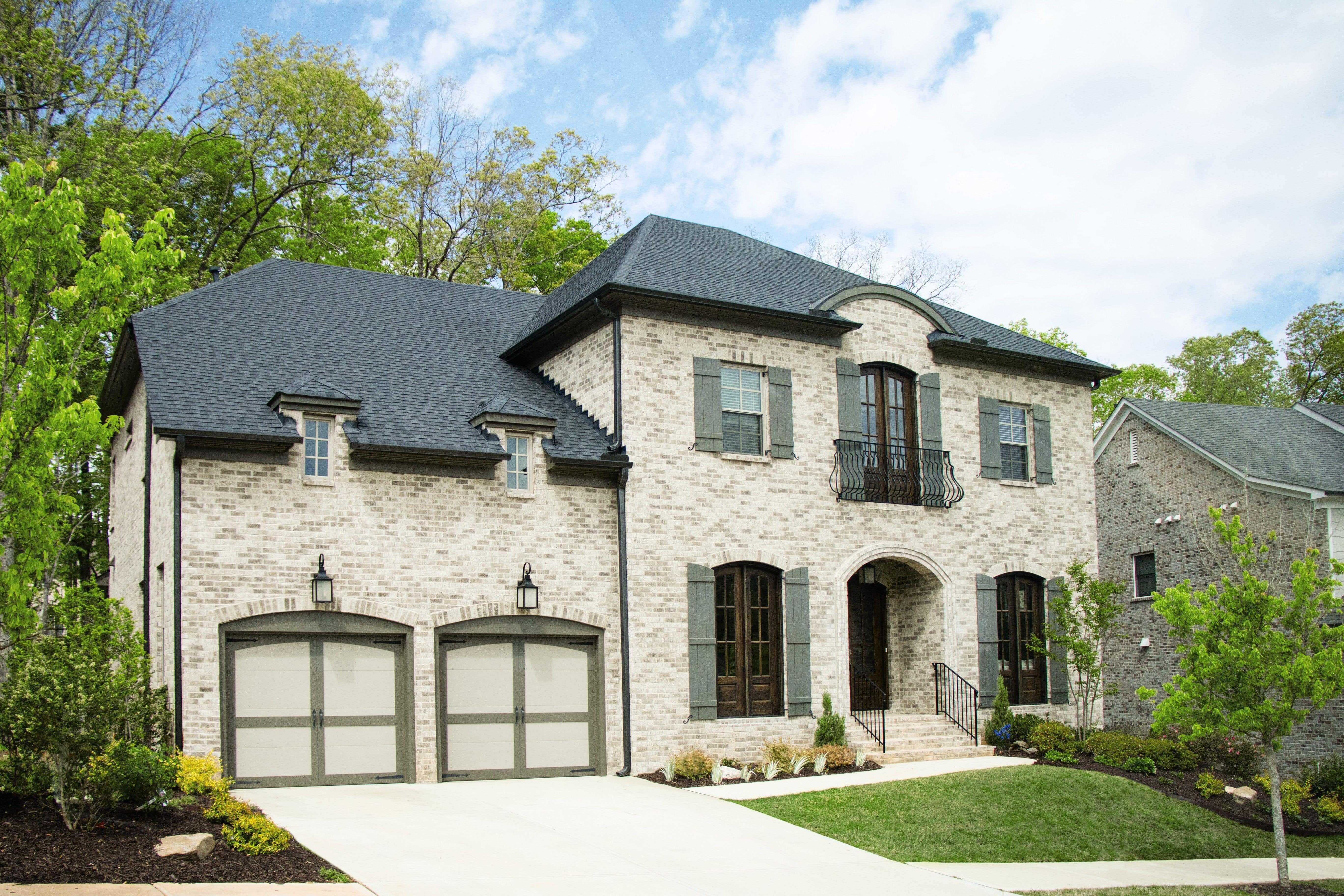 new garage doors on heritage home